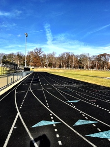 Home for Christmas - I put in all of my runs on the local high school track.
